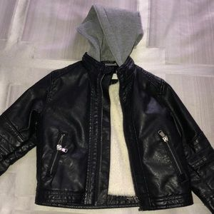 Toddler boys faux leather jacket
